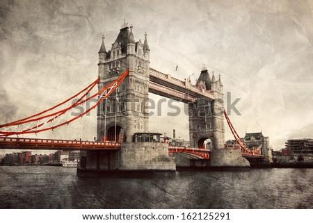 tower bridge in london  england ...