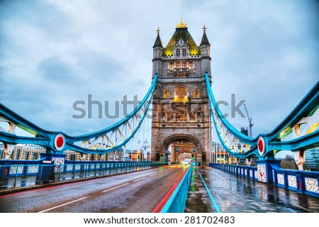 Tower bridge in London, Great Britain in the morning #281702483