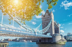 Tower Bridge in London in a beautiful summer day, England, United Kingdom