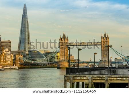 Tower bridge in London in the morning