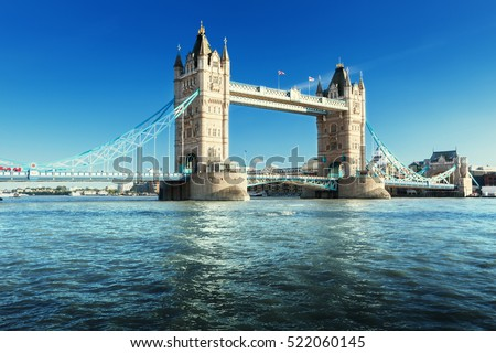 Tower Bridge in London, UK #522060145
