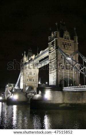 Tower bridge in the dark