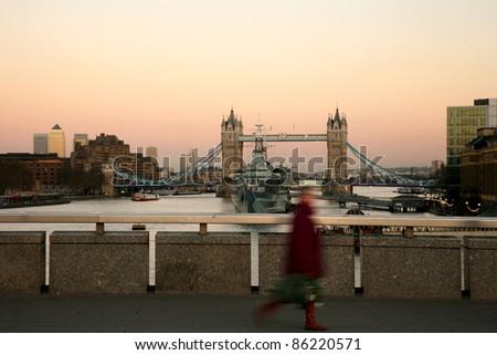 Tower Bridge in the evening glow
