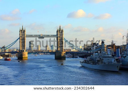 Tower, bridge, London