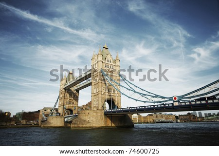 tower bridge of London at day