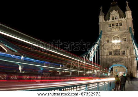 Tower bridge traffic