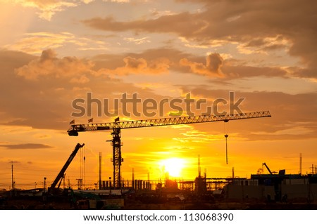 Tower crane,Construction site