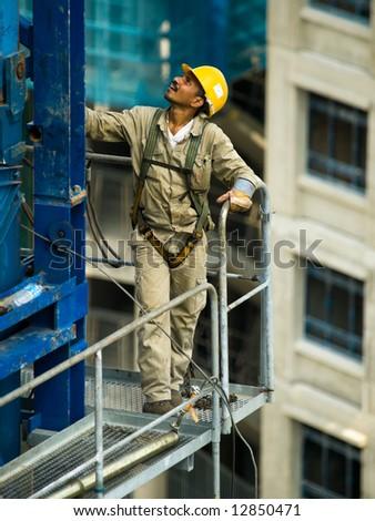 Tower Crane Construction Worker