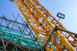 Tower cranes are a common fixture at any major construction site.