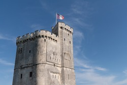 tower entrance harbour in la Rochelle France