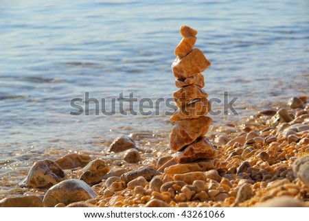 tower from pebbles