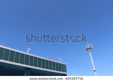 tower light building in airfield #684289756
