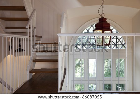 tower, luxury residential apartments, staircase view
