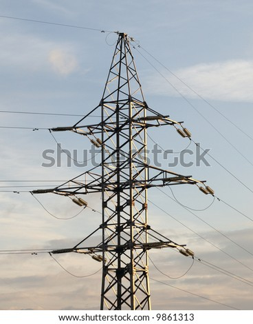 Tower of a high-voltage transmission line
