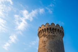 Tower of ancient castle, dated to the 13th century