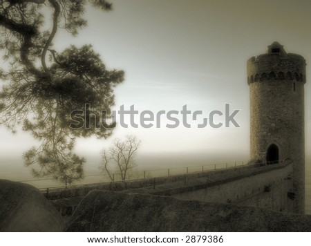 tower of ancient castle in germany