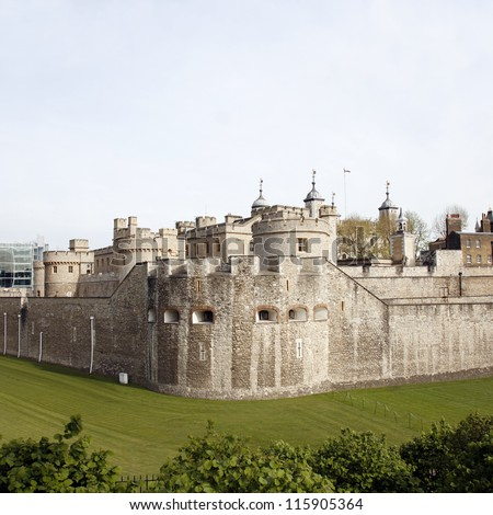 Tower of London, Her Majesty's Royal Palace and Fortress, now the castle is a popular tourist attraction.