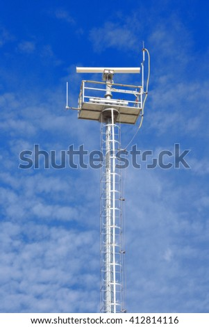 Tower of seismic forecasting system for notice tsunami