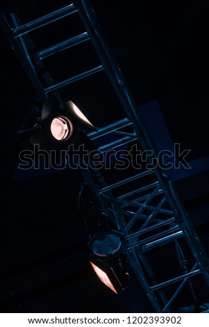 tower of spotlights in the theater #1202393902