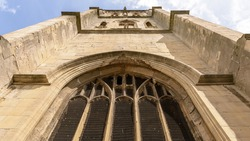 Tower of Temple Church, also known as Holy Cross Church, Ruined church in Redcliffe Bristol England