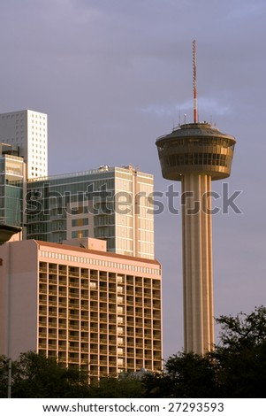 Tower of the Americas and hotels in San Antonio, TX