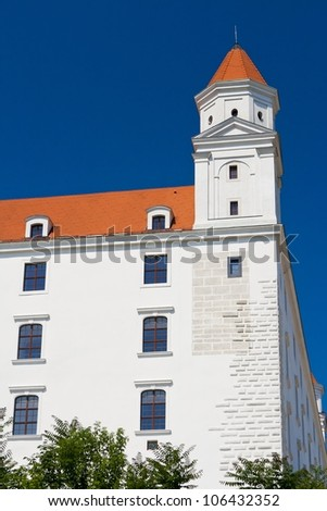 Tower of the Bratislava Castle - view