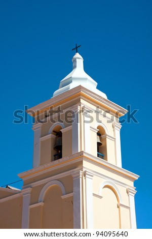 Tower of the church in San Carlos in northern Argentina
