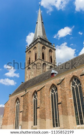 Tower of the Gudula church in Lochem, Netherlands #1135852199
