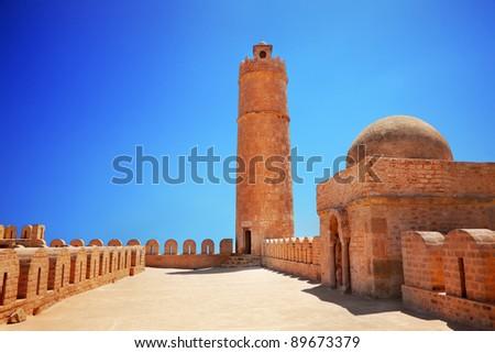 Tower of the Ribat Sousse, Tunisia - stock photo