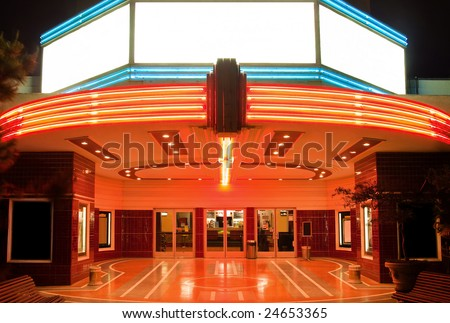 Tower Theater in Sacramento at night