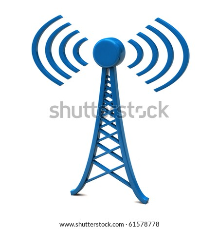 Tower with radio waves