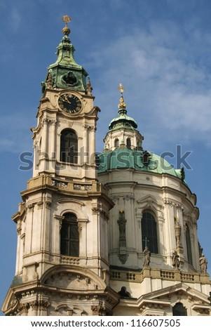 Towers of church of Saint Nicholas in Lesser Town Square, Prague, Czech Republic. #116607505