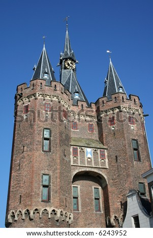 towers of deventer in holland