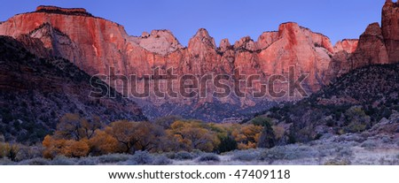 Towers of the Virgin - Zion National Park, Utah