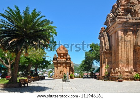 Towers were built by the Cham civilization. Nha Trang, Vietnam