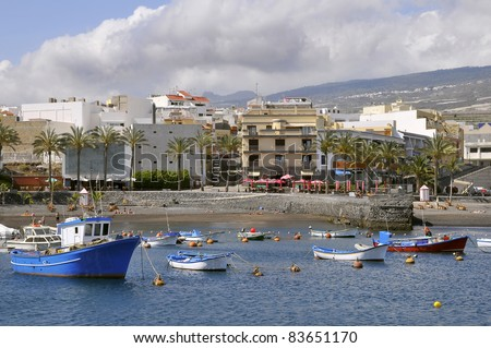 Town and port of San juan at Tenerife in the Spanish Canary Islands