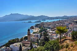 Town and port on the island of Zakynthos in Greece