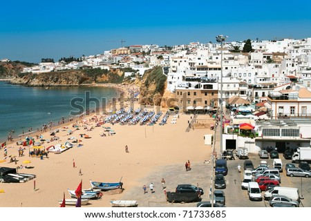 town beach of Bryn at Albufeira, Portugal