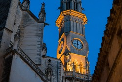 town clock tower in the center of manacor