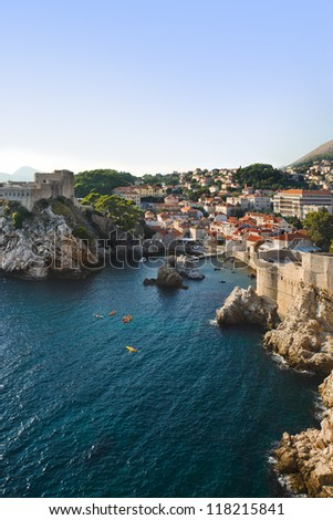 Town Dubrovnik in Croatia - architecture background