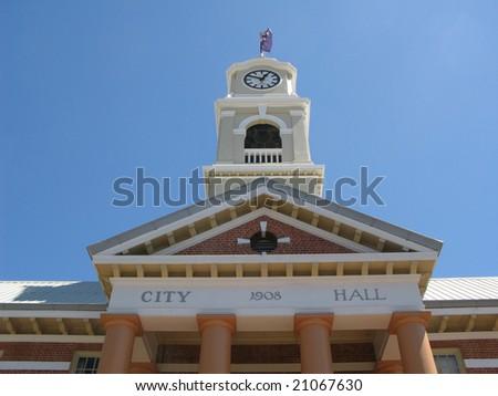 town hall and clock tower, maryborough landmark