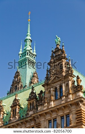 Town Hall in Hamburg