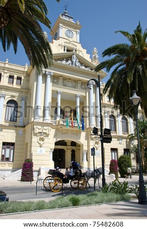 Town hall of Malaga - Andalucia - Spain.