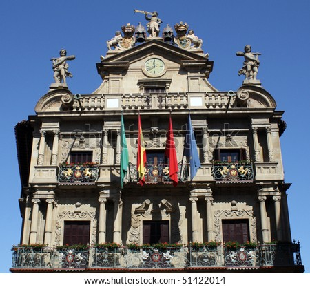 Town hall of Pamplona (Navarre - Spain).