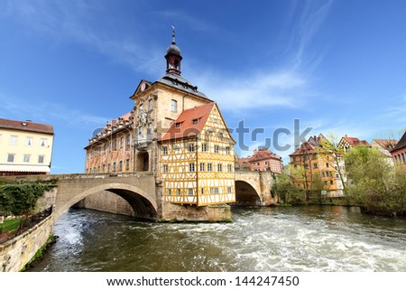 Town hall on the bridge, Bamberg, Germany