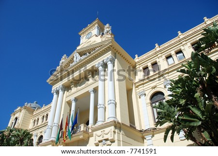 Town Hall Palace in Malaga, Spain