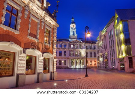 Town hall square in Riga, Latvia.