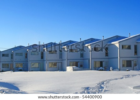 Town house in urban area