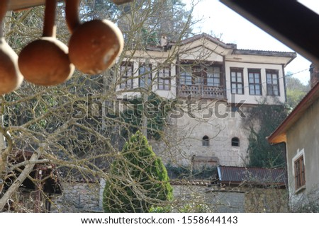 Town of Melnik - ancient, ancient, ancient. Photo of an old house