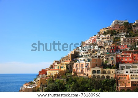 Town of Positano,Amalfi,Italy